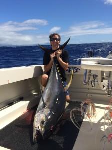 Corey Meridew and 180 lb Yellow Fin Tuna