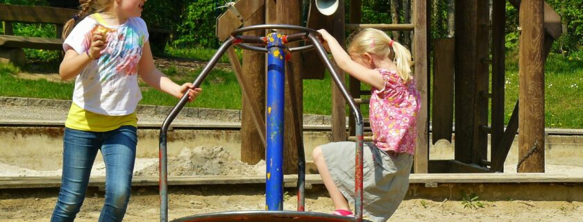 Image of children on a playground to illustrate how Indiana sex offender registration law requirements impact where offenders who are required to register may work, live and play.