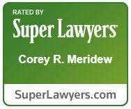 Super Lawyer Award for Corey R. Meridew.