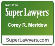 Super Lawyer Award for Corey R. Meridew.