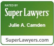 Super Lawyer Award for Julie Camden.