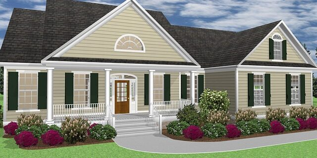 A graphic rendering of a home, representing how Camden and Meridew can help with claims arising from home construction and improvement and the problems that can arise due to construction defects under Indiana home improvement law.