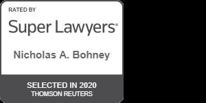 Super Lawyer Award for Nicholas Bohney