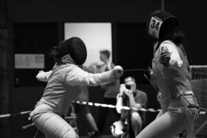 Image of two people fencing, representing how the Indiana litigation and appeals attorneys at Camden & Meridew will fight for you in resolving your case.